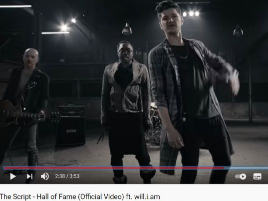 YouTube: The Script - Hall of Fame (Official Video) ft. will.i.am