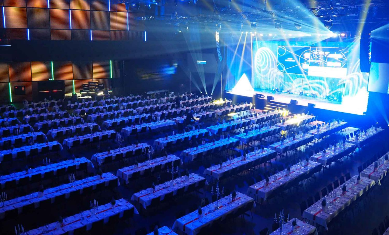 Hall Raum in der Samsung Hall für Events Konzerte Generalversammlungen und andere Firmenanlässe