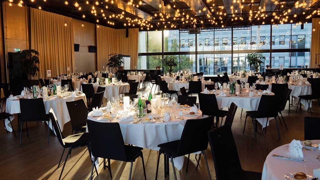 Loft Raum in der Samsung Hall für Events Seminare Gala für Firmen