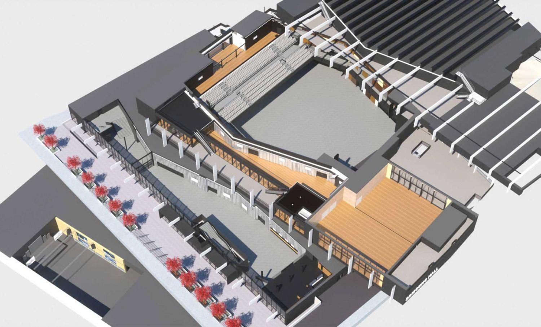 3D-Modell der Samsung Hall - Begehe die Samsung Hall Zürich virtuell